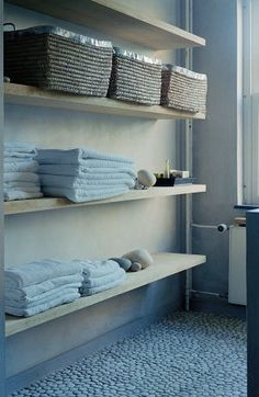 Bathroom open storage