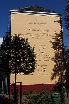 The works of poetry's biggest names grace the walls of the city of Leiden, all carefully painted by hand