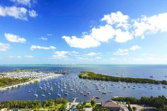 Beautiful day to be #sailing at the Dinner Key Marina in Miami