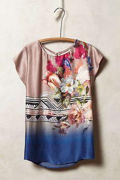 Flowershop Silk Tee $205  #Anthropologie