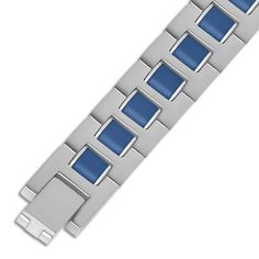Jet NissoniJewelry presents - Stainless Steel w/ Blue Rubber Gents Bracelet    Model Number:BRV1807-ST    https://jet.com/product/Stainless-Steel-with-Blue-Rubber-Gents-Bracelet/0a5ee1410af74852961815aeaa4058c1