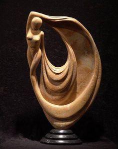 Drapery in Wood Human Sculpture, Stone Sculpture, Abstract Sculpture, Sculpture Art, Wood Carving Art, Carving Designs, Wooden Art, Clay Art, Ceramic Art
