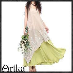 платье комбинированной расцветки в стиле хиппи