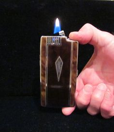 Vintage Cigarette Case Ronson Case Lighter Pocket Pal 1930s Enamel Case WORKING LIGHTER