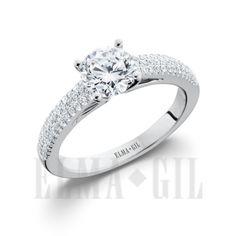 ELMA*GIL 18KWG Diamond Engagement Ring DR-701