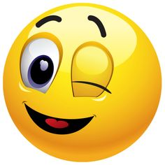 Winking Emoticon - Send this wink in a chat message or post to an FB timeline.