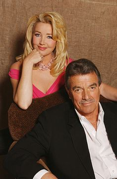 Nikki Reed Newman & Victor Newman played by Melody Scott Thomas & Eric Braeden. GREAT PIC.