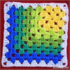 Ravelry: Modern Mitered Granny Square Pattern by Sue Rivers I know it& crochet . : Ravelry: Modern Mitered Granny Square Pattern by Sue Rivers I know it& crochet … but I loved the pattern for a quilt … and […] Motifs Granny Square, Crochet Motifs, Granny Square Crochet Pattern, Crochet Blocks, Crochet Squares, Crochet Blanket Patterns, Crochet Stitches, Knitting Patterns, Granny Square Blanket