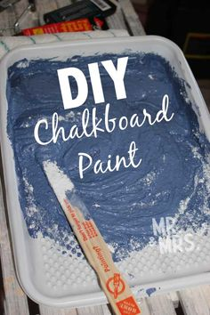 How to make blue (or any color) chalkboard paint for bedroom walls.