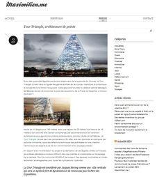 Tour Triangle, architecture de pointe. #TourTriangle http://tour-triangle-paris.com/tour-triangle-paris/