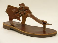 Leather sandals elegant summer style by HQSandals on Etsy, $32.00