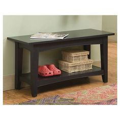Cottage Bench with Shelf - Alaterre : Target