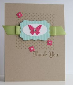 Simple Stampin Up Thank You card