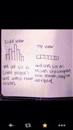God's view of sin (skyscrapers)