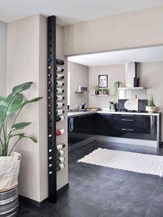 68 Trendy Home Bar Black Kitchen Designs Kitchen Room Design, Modern Kitchen Design, Home Decor Kitchen, Interior Design Living Room, Home Kitchens, Kitchen Designs, Loft Furniture, Wine Furniture, Furniture Design