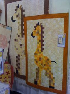 One day I will learn to sew. And one day I will make this quilt for Sarah's baby. One day.   Giraffe Baby Quilt Pattern
