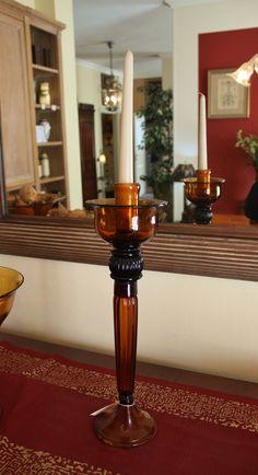 Candelabro in vetro ambrato  #classic #oggettistica #object #interiors #interiordesign #classico Fountain, Interior Design, Kitchen, Home, Candelabra, Nest Design, Cooking, Home Interior Design, Interior Designing