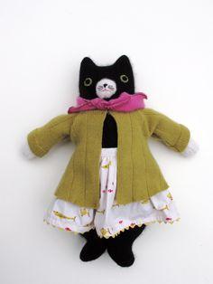 Mimi Kirchner's black and white kitty