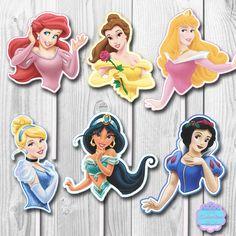 PRINTABLE Disney Princess Cupcake Toppers by AvaScharlizeShop