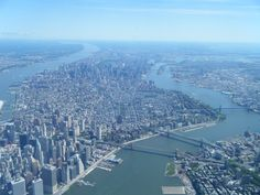 NYC. aerial view  of Manhattan