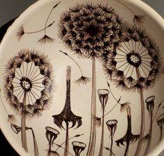 Art ceramic bowl by Raili Suvanto, Kupittaan Savi Ltd Ceramic Bowls, Dream Catcher, Ceramics, Vintage, Art, Style, Ceramica, Dreamcatchers, Ceramic Art