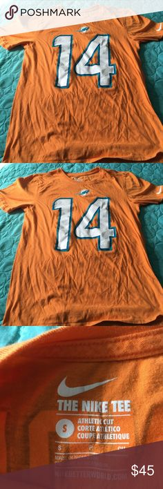 Take 25%off Bundle Dolphins Landry T M S Boys L XL This is a Miami Dolphins tee with number 14 Landry on it. Size mens S athletic cut from The Nike Company. Will make a awesome gift for that little DOLPHIN FAN  on your list. Nike Shirts & Tops Tees - Short Sleeve