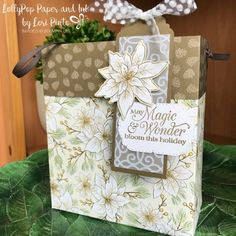 3d Paper Crafts, Space Crafts, Stampin Pretty, Stampin Up, Poinsettia Cards, Christmas Poinsettia, Specialty Paper, 3d Projects, Bago