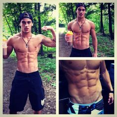 i don't know what it is about guys with six-packs and backwards hats. :)