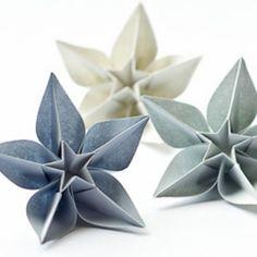 origami facile fleur carambola, fleur facilement a faire