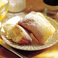 Nutmeg Beignets Beignets are deep-fried fritters, typically sprinkled with powdered sugar. They're great for breakfast, dessert, or snacking.