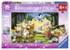 Ravensburger Puzzle - Disney Princess Snow White & The Dwarfs (2X24pcs.) (08889)  Manufacturer: Ravensburger Enarxis Code: 015980 #toys #puzzle #Ravensburger #Disney #Snow_White #dwarves