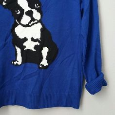 Cobalt Dog sweater nwot New never worn! 100% acrylic. acrylicArmpit to armpit approx 19 inches.  Bundle for best deals!! Hundreds of items available for discounted bundles- items starting as low as $5! You can get lots of items for a low price and one shipping fee!  Follow on IG: @closethslmr Ruby Rd. Sweaters Crew & Scoop Necks