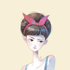 Little Oil,illustration,art,drawings,cute girl