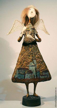 Купить Ангел хранитель дома - золотой, ангел, ангелок, Праздник, подарок, Новый Год
