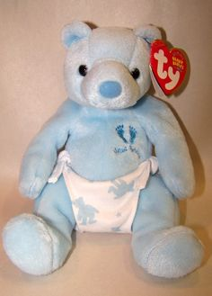 New Baby Boy TY Beanie Baby Bear