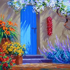 doors painted santa fe blue in santa fe - Google Search