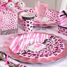 Shower the mom-to-be with a super-cute pink safari baby shower. Think pink! They sell this all @ Party City, they even have the leopard streamer!!!