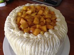Heart of Mary: The Mango Bravo Challenge: Part 3 (of 3) - the Whipped Cream frosting and Final Assembly