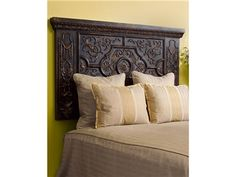 Shop for Valdes Carved Headboard Queen, EUR48V4888S, and other Bedroom Beds at Colorado Style Home Furnishings in Denver, CO.