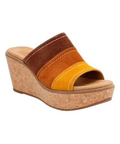 Look what I found on #zulily! Tan Aisley Lily Suede Wedge #zulilyfinds