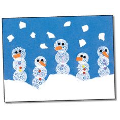 Pretty Snowpals!: After making and displaying these lacy-looking snowpals, have each student write an imaginative tale using the wintry scene as the setting.