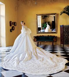 Fabulousness doesn't even come close. The gown is beautiful and love the royal train!