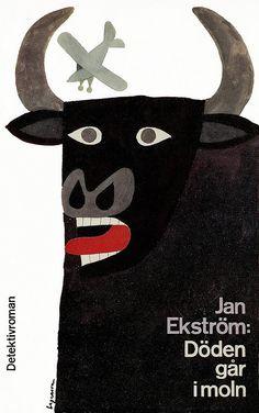Jan Ekström - Döden går i moln Cover by: Rolf Lagerson Printed: 1962