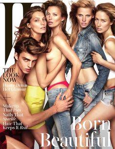 W Magazine November 2014 Covers  Katie Moss Lara Stone