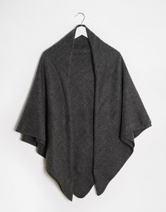 ASOS Wide Square Blanket Scarf In Grey