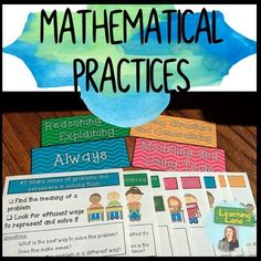 These are posters I created to correlate with the 8 standards of mathematical practice. There are headings and posters with descriptions of each strategy. As well, the posters contain questions to help guide students in their math practices.If you like this product, you should check out my Classroo...
