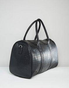 575940a74 Discover Fashion Online Mochilas, Diseño De La Línea, Imitación De Cuero  Negra, Cocodrilo