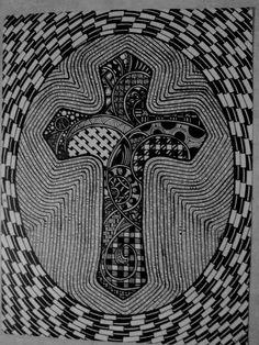 zentangle cross