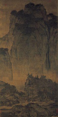 范寬「谿山行旅圖」Fan_Kuan_-_Travelers_Among_Mountains_and_Streams_-_Google_Art_Project.jpg (2809×5633)