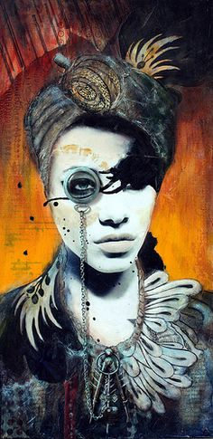 The Visionary  by Andrea Matus Amazing collage of faces -  the eyes are exceptional.